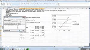 Cost Volume Profit Graph Excel Template Cvp Analysis Mp4