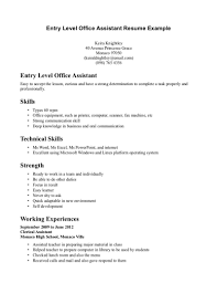 exles of entry level resumes certified nursing assistant resume objective office administration