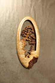 pierced relief wood carving called forest chat by wiz