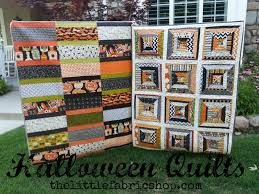 halloween fabric on sale the little fabric blog halloween quilts which one is your favorite