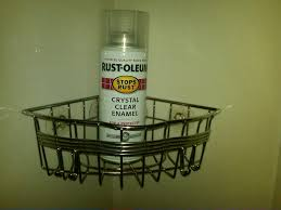 Bathroom Caddy Ideas Stop Metal Shower Caddy From Rusting With This Spray With