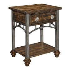 Black Wood Nightstand Furniture Elegant Tall Metal Nightstands White Bedside Table