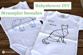 strler selbst designen babyshower diy strler bemalen