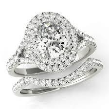 moissanite wedding sets oval forever one moissanite wedding set halo