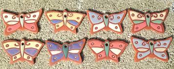 terracotta butterfly ornament garden tag michigan
