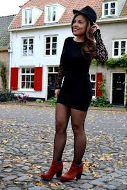 how to wear tights with that little black dress fashionmylegs