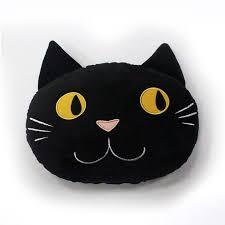 celebrate halloween together cat head throw pillow halloween