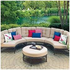 patio table and chairs big lots wilson fisher tuscany resin wicker 6 piece seating set at big