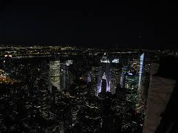new york city skyline at night wanderingtrader