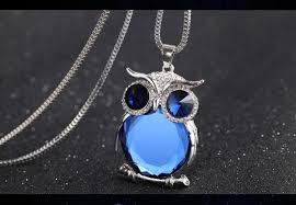 crystal owl necklace images Owl necklace rhinestone crystal pendant ace gems jpg