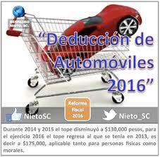 gastos deducibles personas fisicas asalariados 2016 deducción de automoviles 2016 nieto sc