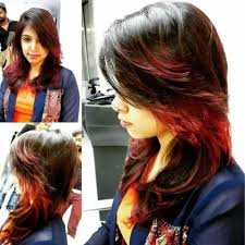 india layered hairstyles feather cut with highlights for indian women indian hairstyles