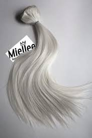 white hair extensions icy hair extensions miellee hair extensions