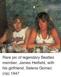 James Hetfield Meme - 딘 rare pic of legendary beatles member james hetfield with his