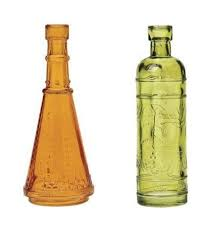 203 best color glass bottles images on colored glass