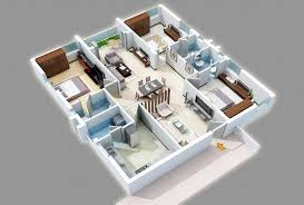 Three Bedroom Design General Creating A Layout 25 Three Bedroom House Apartment