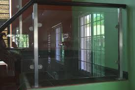 modern glass stair railing cavitetrail glass railings