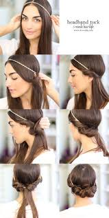 easy 1920s hairstyles quick hairstyles for long hair headband tuck hair style and