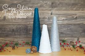 cozy yarn tree decor simple u0026 easy diy yarn tree craft creative