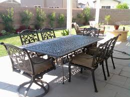 furniture iron rectangular patio dining table with iron chairs