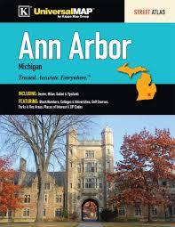 Ann Arbor Zip Code Map ann arbor mi street atlas universal map group 9780762573653