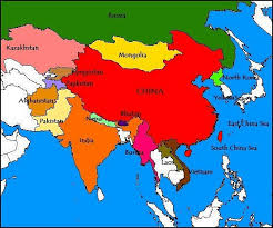 russia map border countries where is china