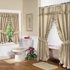 linen lauren double swag shower curtain