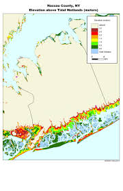 New York State Counties Map by More Sea Level Rise Maps For New York State