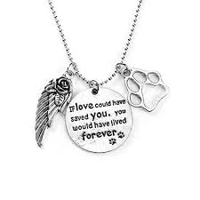 pet memorial necklace sparkles pet memorial necklace if could saved you yo