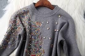 fish sweater winter designer womens sweaters black gray white knitted