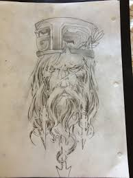tattoo design poseidon god of the sea by theperpetualbliss on