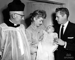 lucy and desi arnaz lucille ball and desi arnaz with son desi jr on his christening