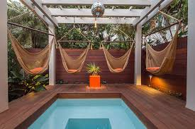 Backyard Paradise Ideas Outdoors Relaxing And Stylish Tropical Style Pool Deck And
