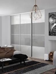 White Closet Doors Bedroom Classic 4 Panel Sliding Wardrobe Doors In Pure White And Light
