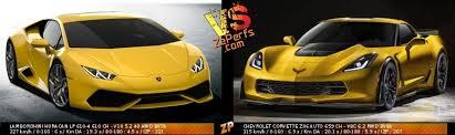 corvette vs lamborghini lamborghini huracan lp 610 4 vs chevrolet corvette z06 auto 51705538