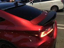 lexus sc300 wing ca 1000 artisan spirits carbon fiber trunk spoiler for rcf and