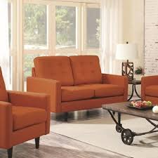 Orange Living Room Chairs by Living Room Furniture Coaster Fine Furniture Living Room