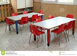 preschool kids study table and chair classroom height adjustable
