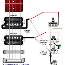 exciting wiring two humbuckers with one volume and two tone