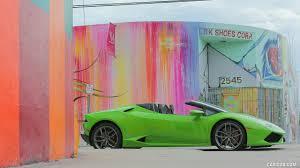 Lamborghini Huracan Green - 2016 lamborghini huracán lp 610 4 spyder green in miami side