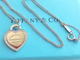 heart tag necklace tiffany images Tiffany co return to 18k gold diamond heart tag charm 18in chain jpeg