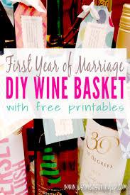 bridal shower wine basket how to easily make a wedding wine basket just measuring up