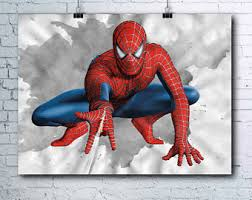 spiderman poster etsy