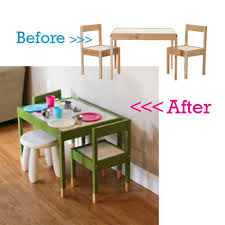 ikea childrens table and chairs before after painted ikea latt table mysig canopy