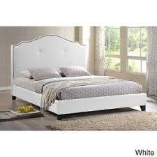 White Modern Bed King Bed Upholstered Headboard Foter