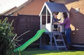 tp playhouse wooden chalet multiplay garden slide youtube loversiq