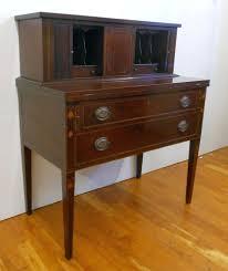 Maddox Tables Secretary Desk by Antique Hepplewhite Federal Style Mahogany Tambour Desk Secretary