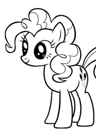 pony pinkie pie coloring pages kids printable free