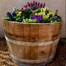 everchanging and portable flowering wine barrel wine barrel