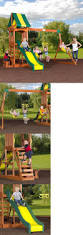 100 backyard discovery weston cedar wooden swing set stan